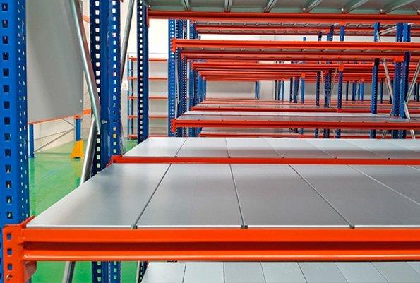 estantería carga manual para textil