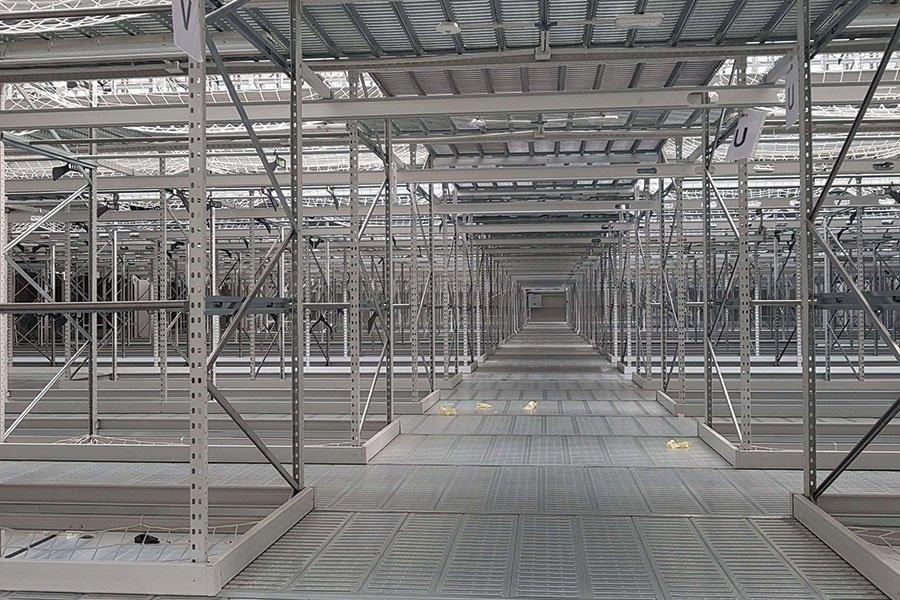 pasillo estantería industrial