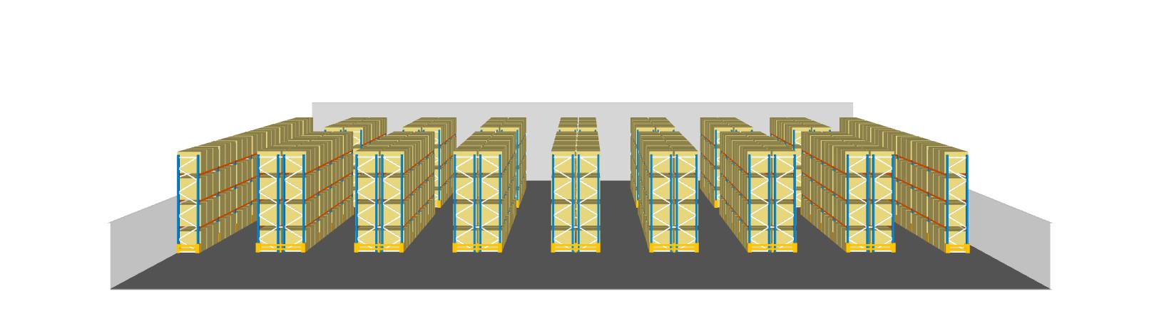 estanterías carga paletizada