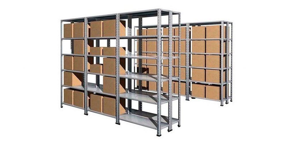 estantería carga manual con ángulo ranurado